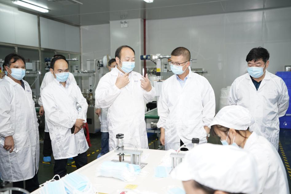 永州市领导唐卫红调研朗盾、晟海:依托重点企业,打造双牌医疗物资产业园