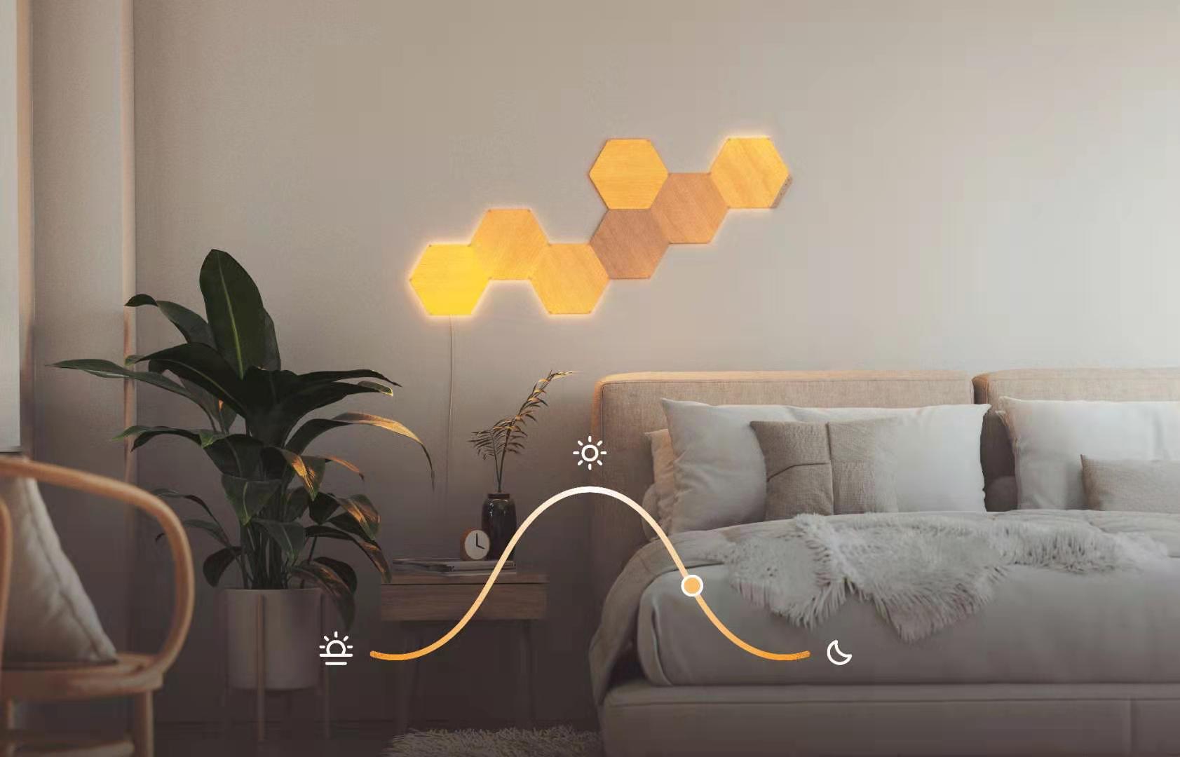 """将自然元素与智能科技相融 Nanoleaf木纹奇光板打造智能家居""""黑科技"""""""