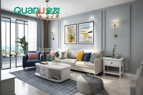 几款客厅背景墙设计方式 全友提升您家的空间格调